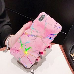 NEW iPhone XS/X/7/8/Plus Laser effect Marble case